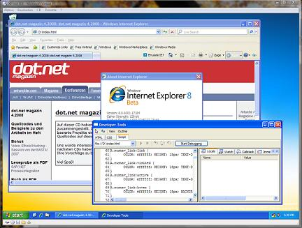 IE8 und Virtual PC
