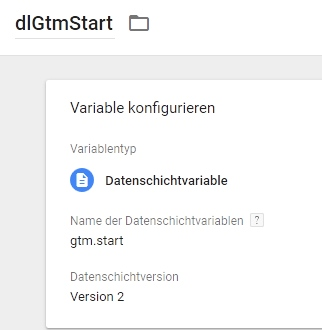 Variable gtmStart