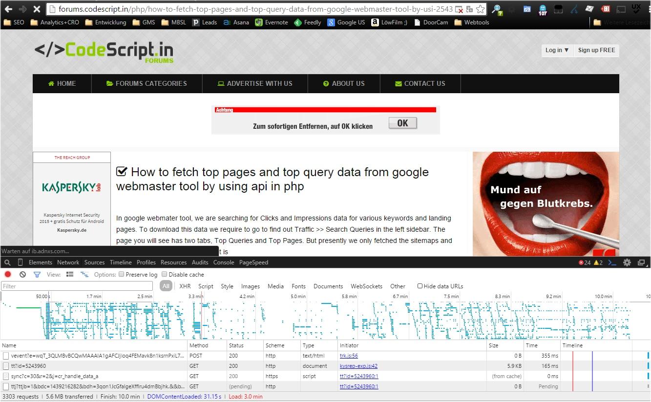 Ressourcenverschwendung im Browser sichtbar gemacht