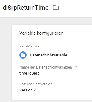 Variable SrpReturnTime